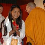 Devika With His Holiness Dalai Lama