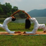 Yoga in open nature