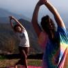 Yoga Trek Outside Jungle Annapurna Japanese Teacher